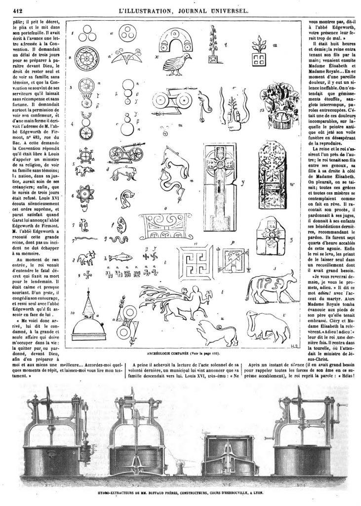 Archéologie comparée.-Hydro-Extracteurs de MM. Buffaud frères, constructeurs, à Lyon.
