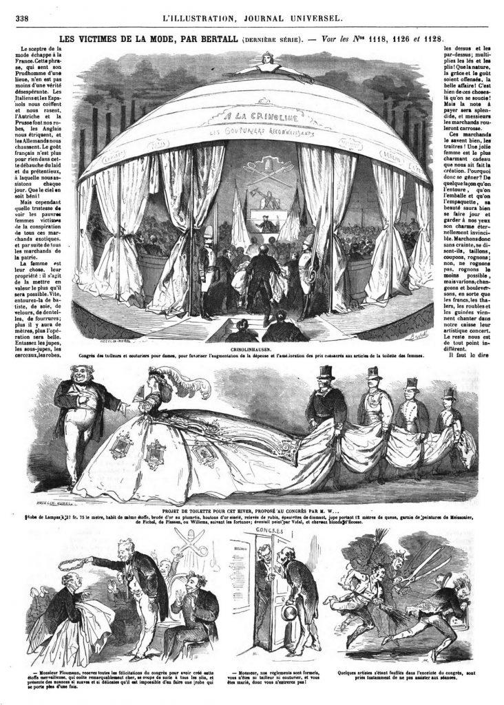 Les victimes de la mode, par Bertall, dernière série (10 gravures).