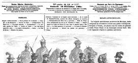 L'illustration journal universel n° 1137 – Uniformes de la brigade austro-mexicaine. 1864
