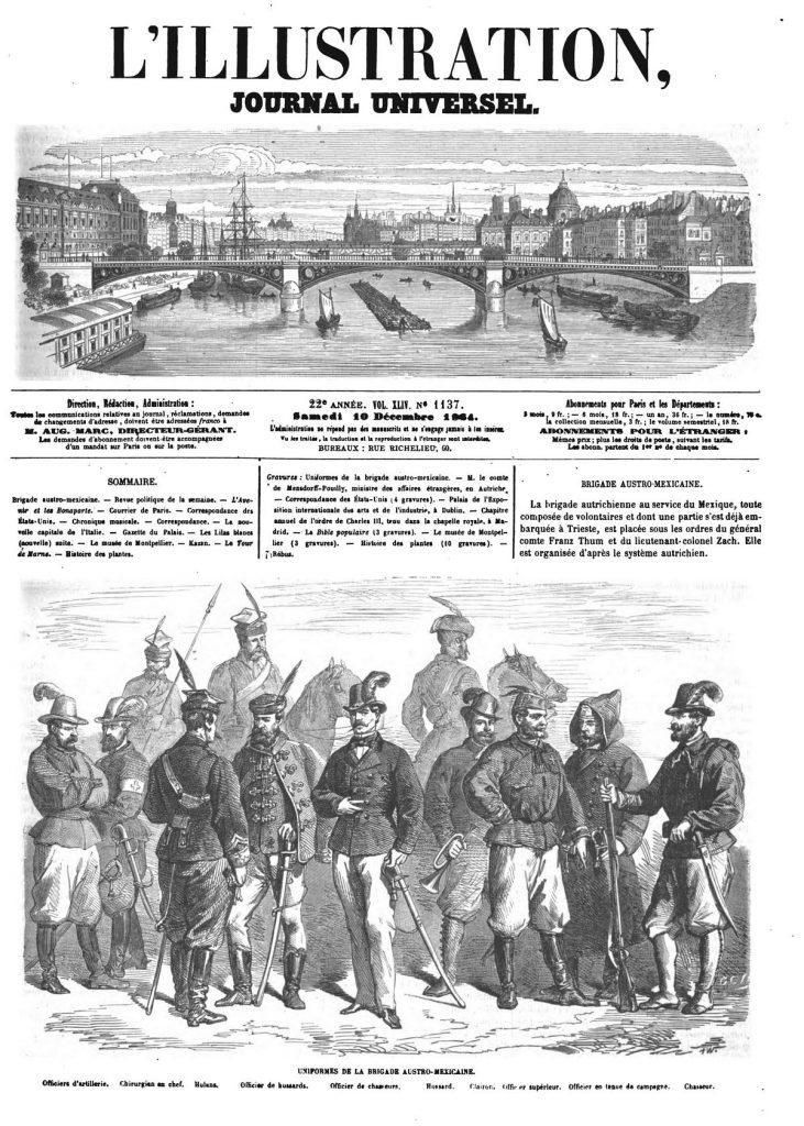 Uniformes de la brigade austro-mexicaine.