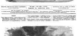 L'illustration journal universel n° 1614. Evénements d'Espagne : explosion du Teluan dans le port de Carthagène 1874