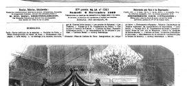 L'ILLUSTRATION JOURNAL UNIVERSEL N° 1393. Fêtes de l'isthme de Suez: Inauguration du cirque au Caire 1869