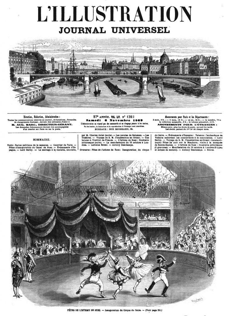 FÊTES DE L'ISTHME DE SUEZ - Inauguration du Cirque du Caire.