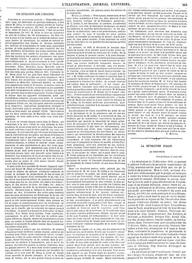 LA RÉVOLUTION D'HAITI 1867