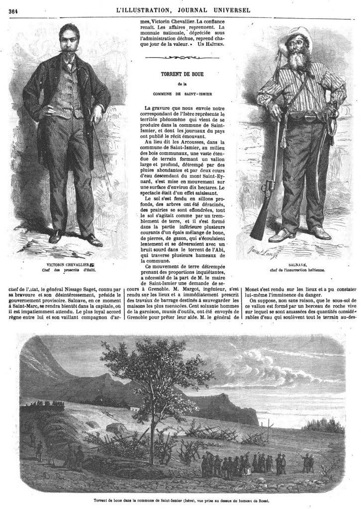 Torrent de boue dans la commune de Saint-Ismier 1867