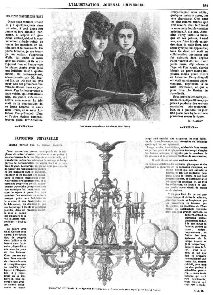 Les jeunes compositeurs Antonine et Henri Perry.