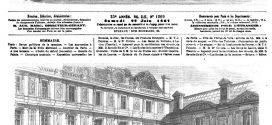 L'ILLUSTRATION JOURNAL UNIVERSEL N° 1269. 22 juin 1867 Visite de S. M. le roi de Prusse aux écuries impériales du Louvre.