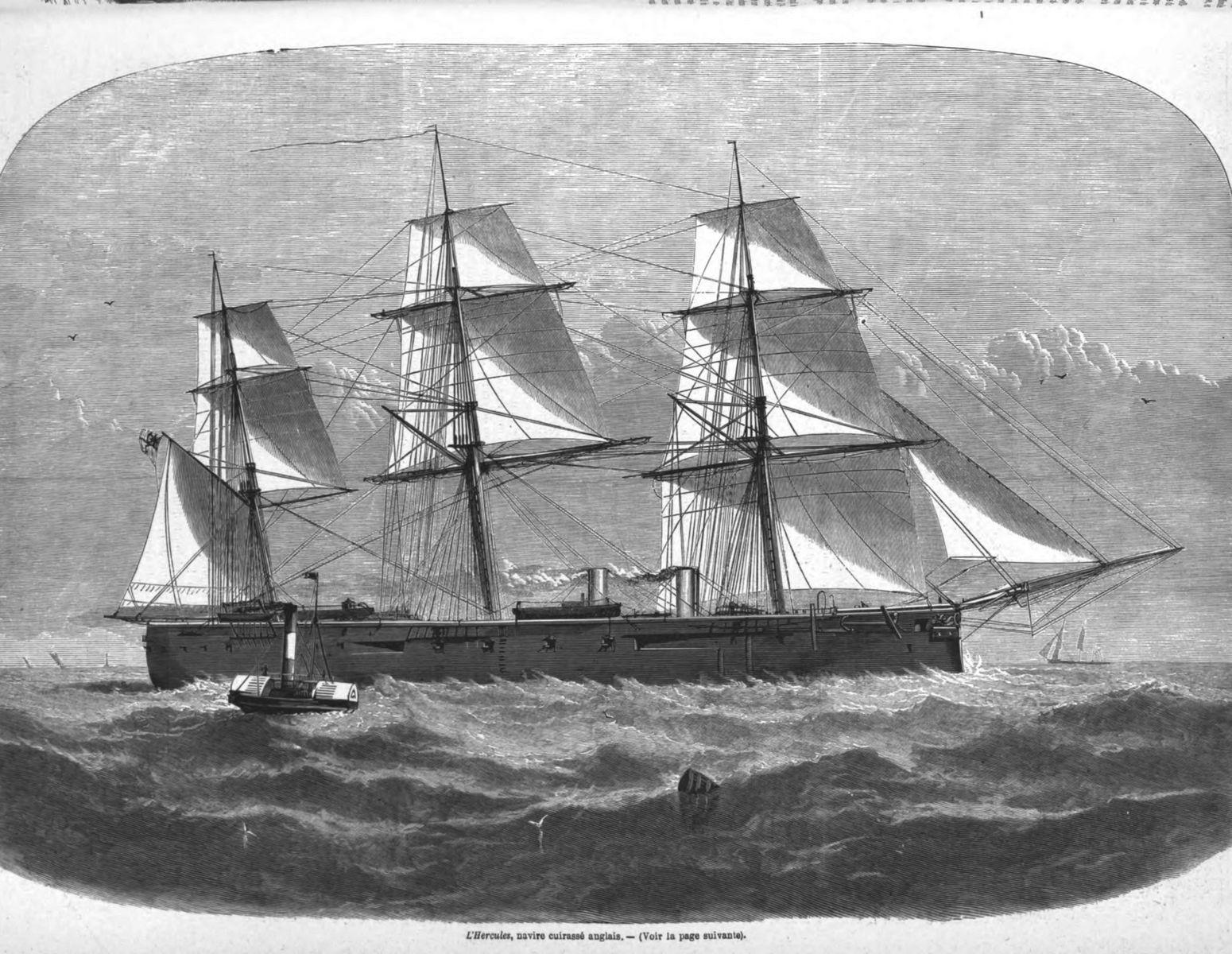 L'Hercules,navire cuirassé anglais.