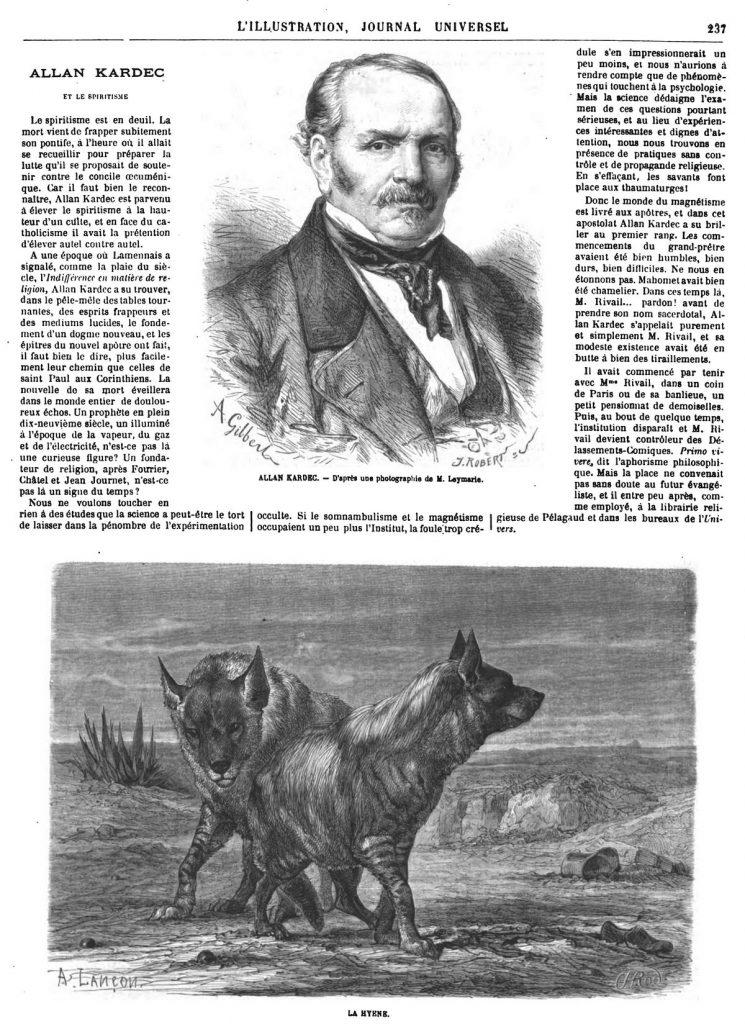 Allan Kardec. gravure 1869