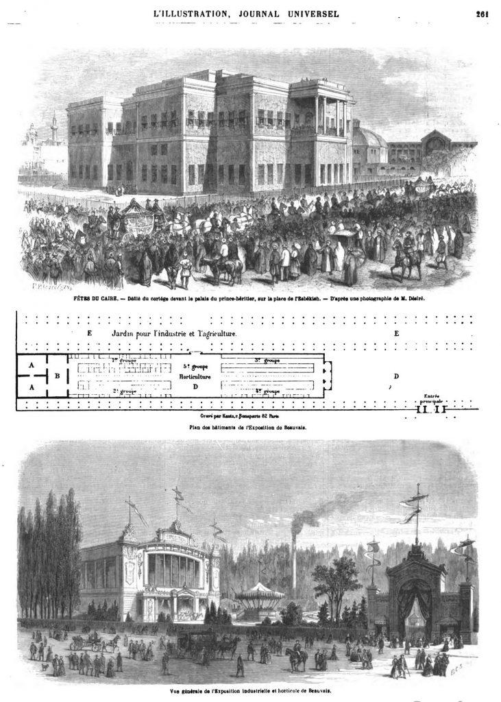 Vne générale de l'Exposition industrielle et hotticole de Beauvais.