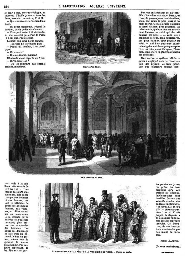 LA CONCIERGERIE ET LE DÉPOT DE LA PRÉFECTURE DE POLICE 1869