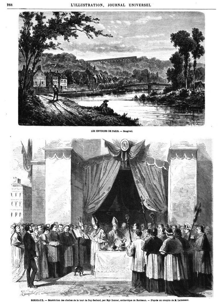 LES ENVIRONS DE PARIS. — Bougival 1869 - gravure
