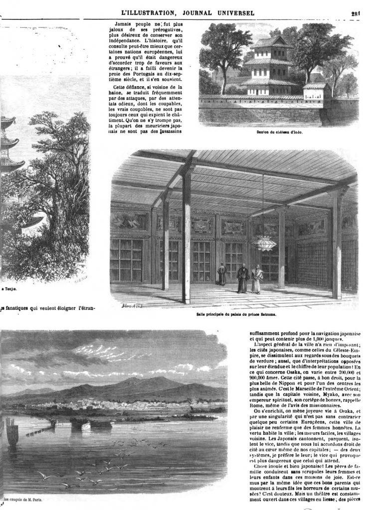 Le Japon et la la ville japonaise d'Osaka 1869