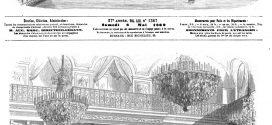 L'ILLUSTRATION JOURNAL UNIVERSEL N° 1367. Séance annuelle de la Société du Prince impérial dans la salle des Maréchaux, au palais des Tuileries. 1869