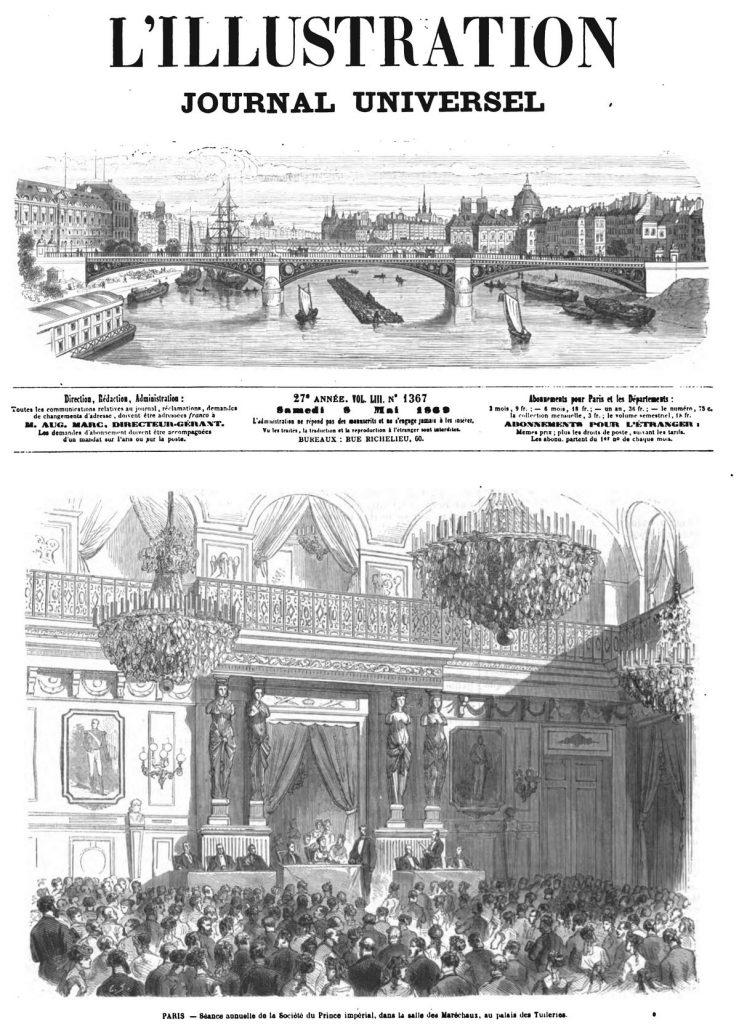 Paris: Séance annuelle de la Société du Prince impérial dans la salle des Maréchaux, au palais des Tuileries.