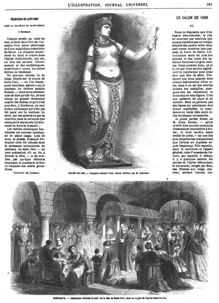 Cléopatre devant César. Bordeaux : Cérémonie célébrée le jour de la fête de Saint-Fort.
