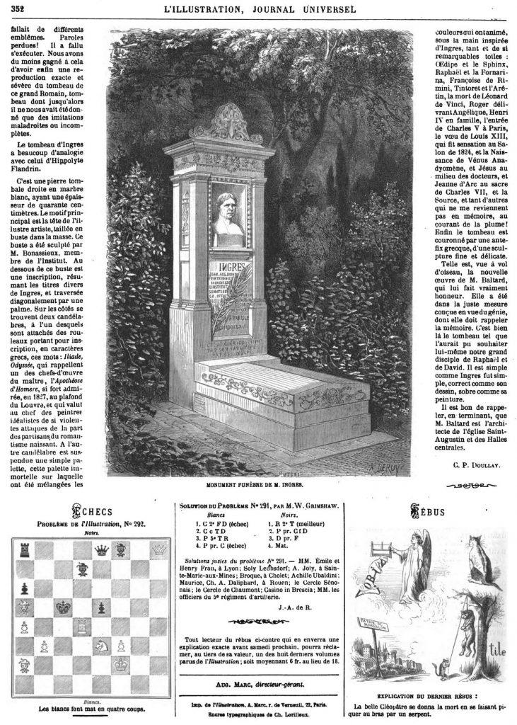 MONUMENT FUNÈBRE DE M. INGRES.1869