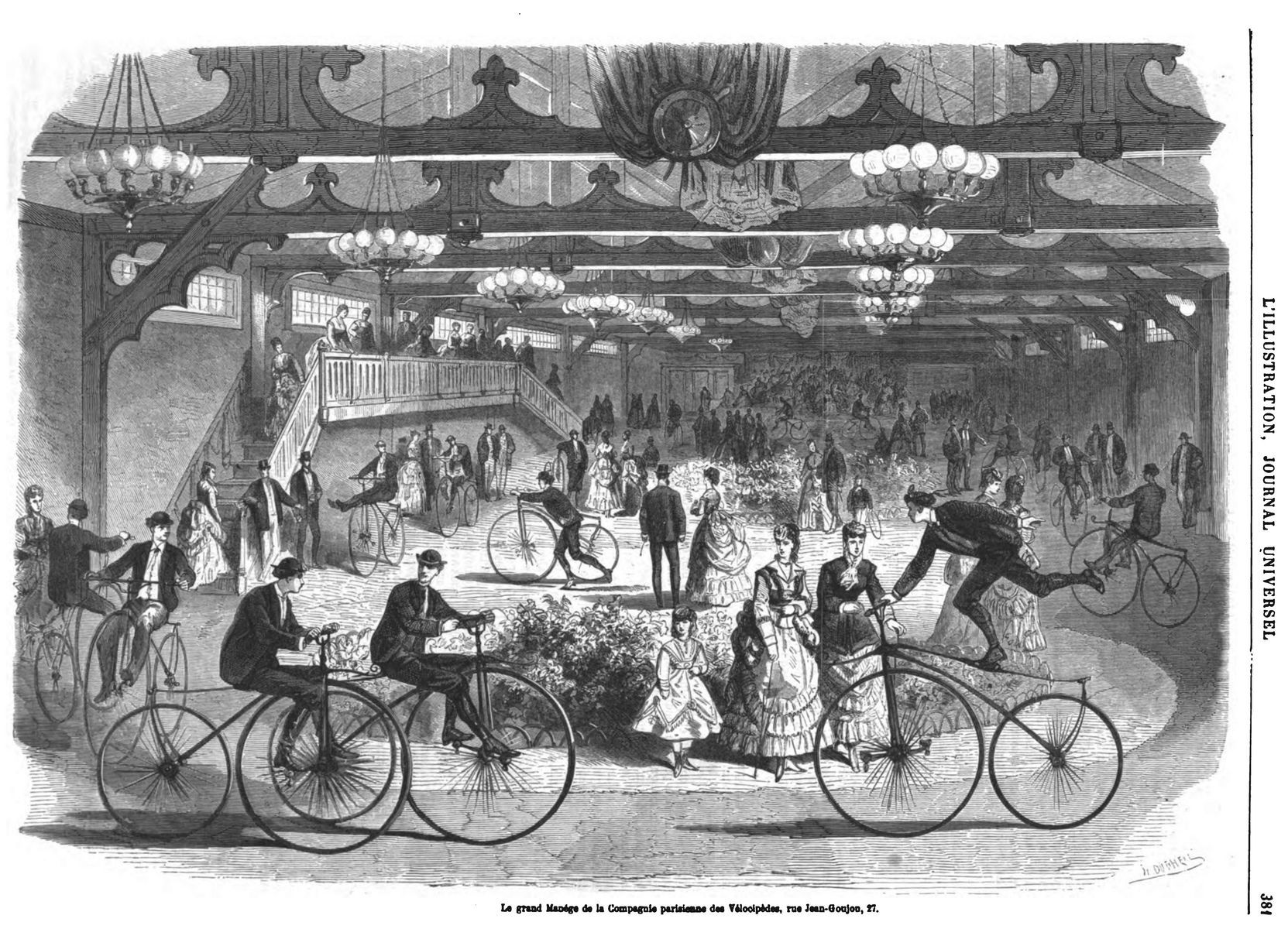 Le grand manège de la Compagnie parisienne des Vélocipèdes