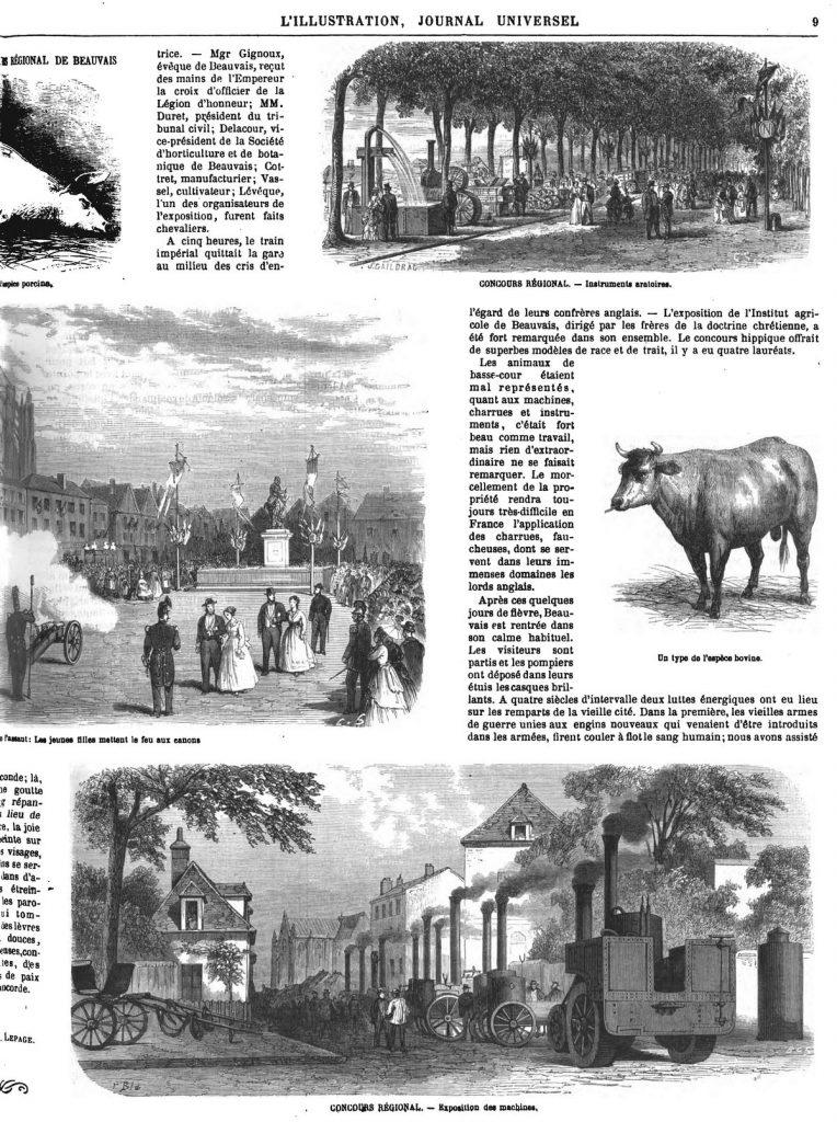 CONCOURS RÉGIONAL. - Exposition des machines,