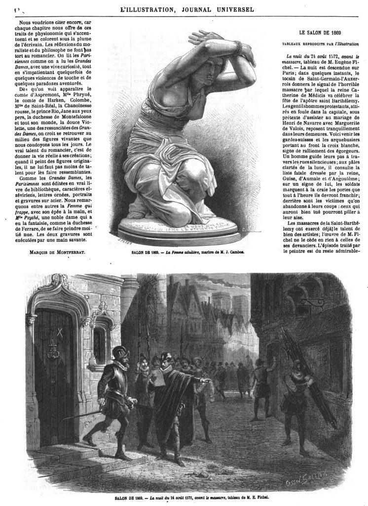 SALON DE 1869. - La nuit du 24 août 1572, avant le massacre, tableau de M. E. Fichel.