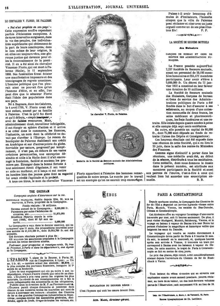 Médaille de la Société de Secours mutuels des Administrations publiques.