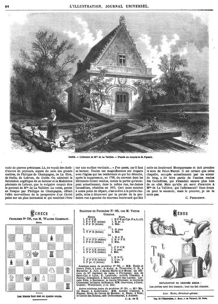 PARIS. - L'Oratoire de Mll° de La Vallière. - D'après un croquis de M. Pignard.