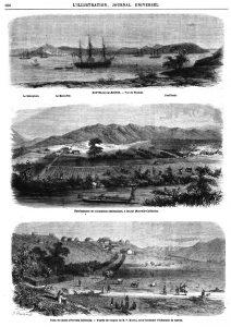 Poste de Canala (Nouvelle-Calédonie). - D'après les croquis de M. P. Mantin, sous-lieutenant d'infanterie de marine.