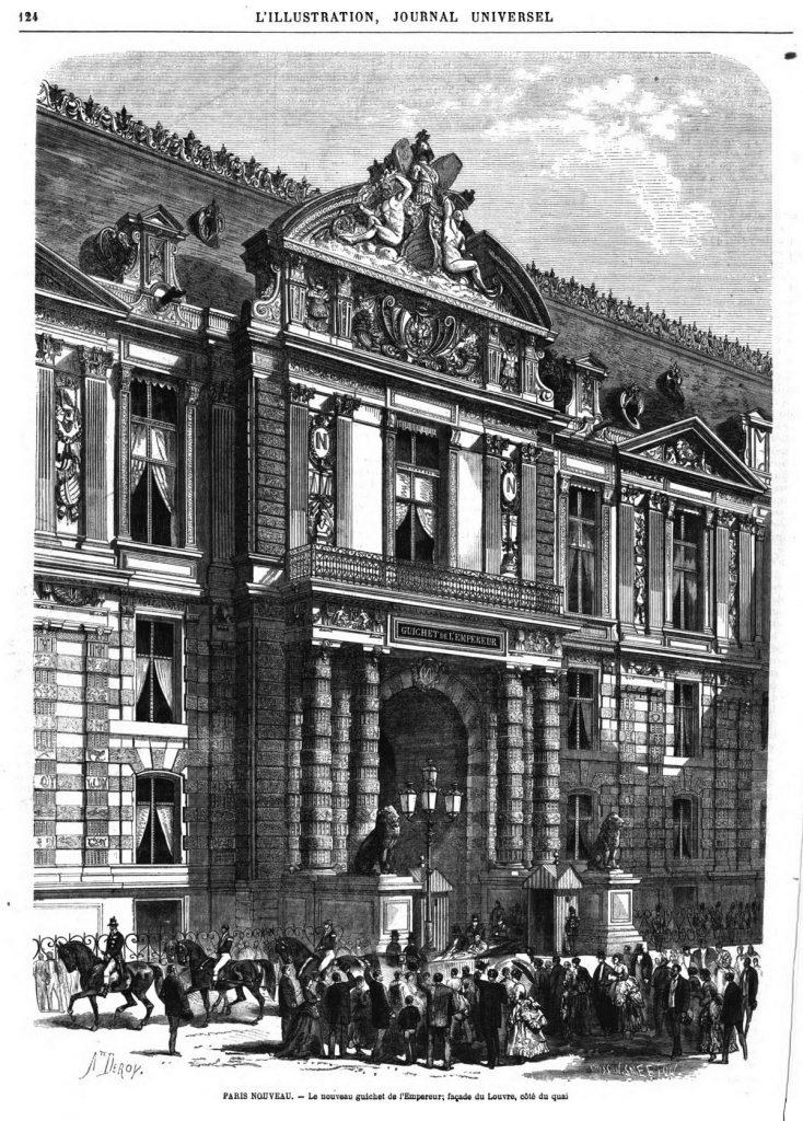 Paris nouveau: le Guichet de l'Empereur, au Louvre.