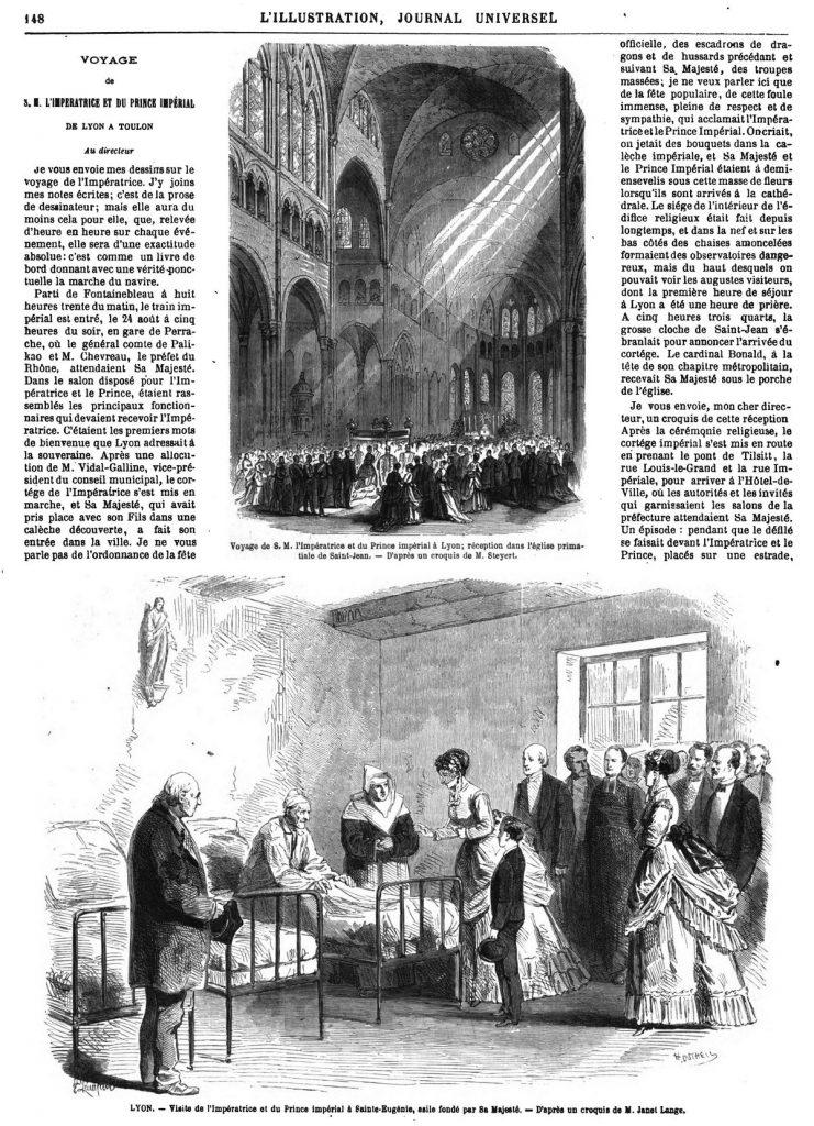 Voyage de S. M. l'Impératrice et du Prince impérial à Lyon: réception dans l'église primatiale de Saint-Jean .