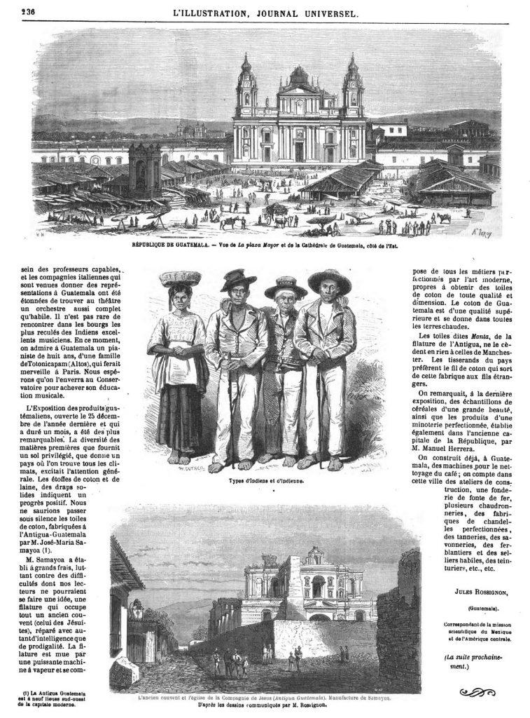 République de Guatemala 1869. Catedral de Ciudad de Guatemala