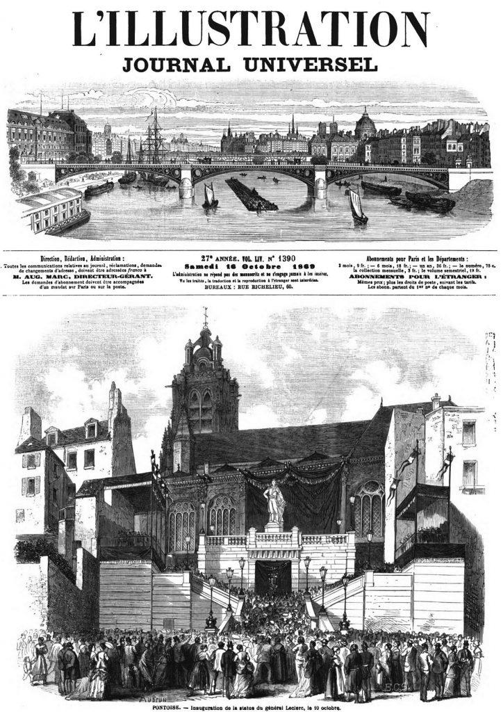 Pontoise : Inauguration de la statue du général Leclerc. 1869