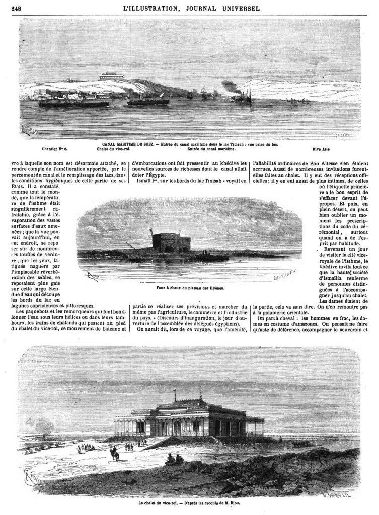 itinéraire à Suez et dans la basse Egypte.