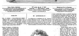 Adolphe Crémieux, à l'origine Isaac-Jacob Adolphe Crémieux, (30 avril 1796 à Nîmes, le 10 février 1880 )
