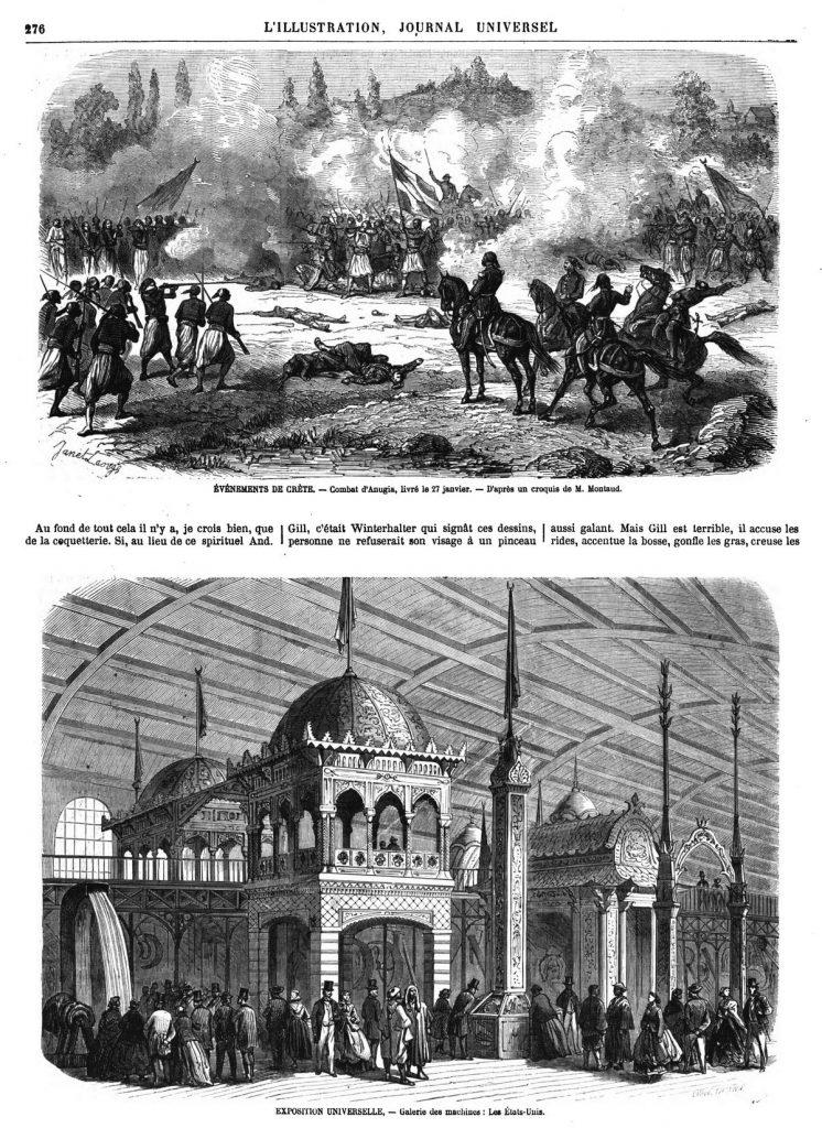 ÉVÉNEMENTS DE CRÈTE. - Combat d'Anugia, livré le 27 janvier. - D'après un croquis de M. Montaud.
