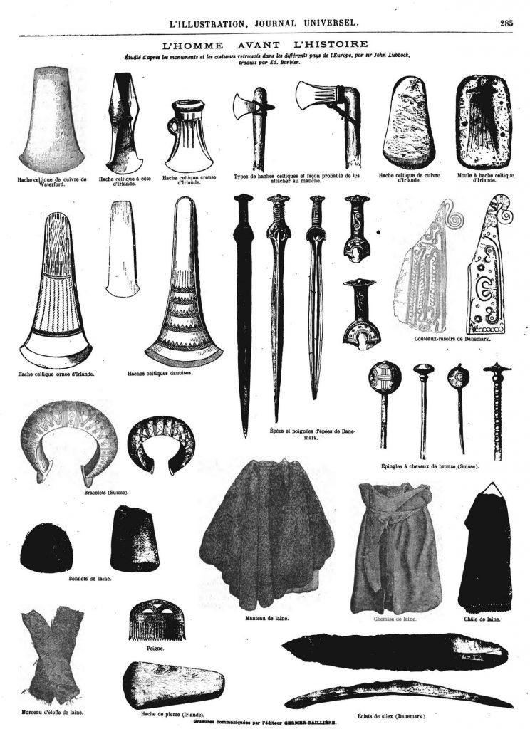 Étudié d'après les monuments et les costumes retrouvés dans les différents pays de l'Europe, par sir John Lubbock,