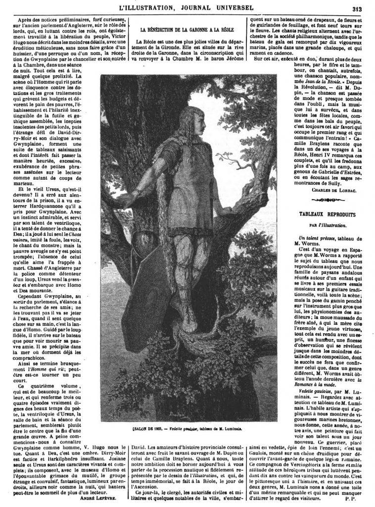 [SALON DE 1869. - Vedette gauloise, tableau de M. Luminais.