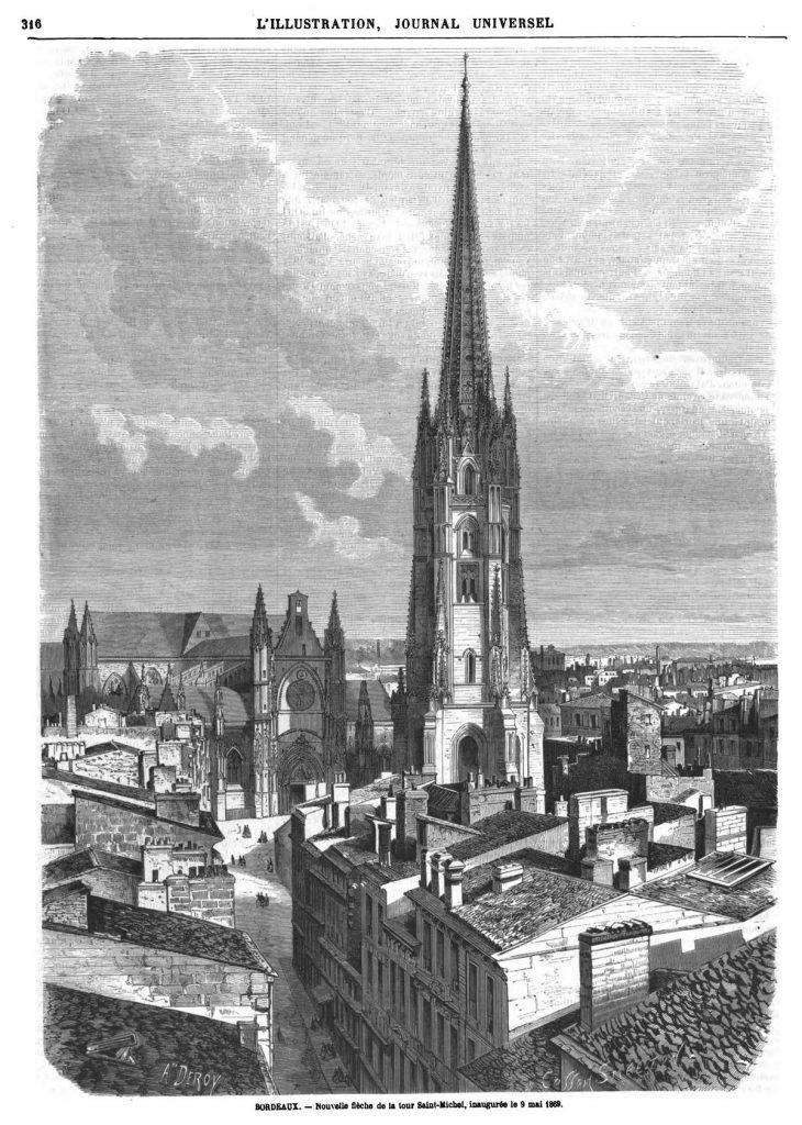 Cathédrale de Bordeaux : nouvelle flèche de la tour Saint-Michel
