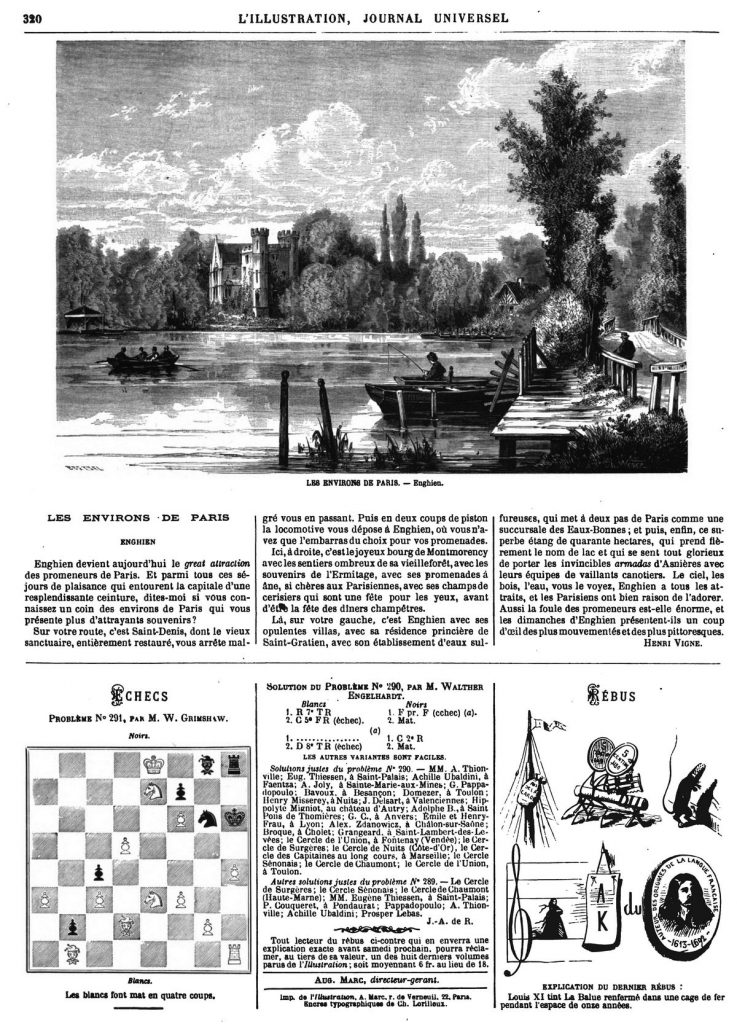 Les Environs de Paris : Enghien 1869