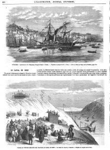 AUTRICHE. - Arrivée de S. M. l'Empereur François-Joseph à Trieste. — D'après un croquis de M. A. Roux.
