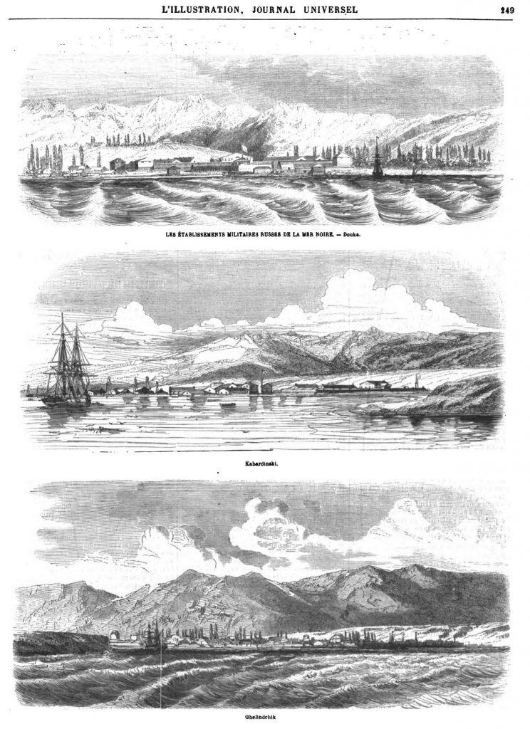Les Établissements militaires russes de la mer Noire : 1869