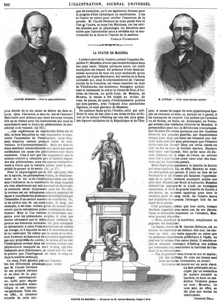 CLAUDE BERNARD. 1869 M. AUTRAN.