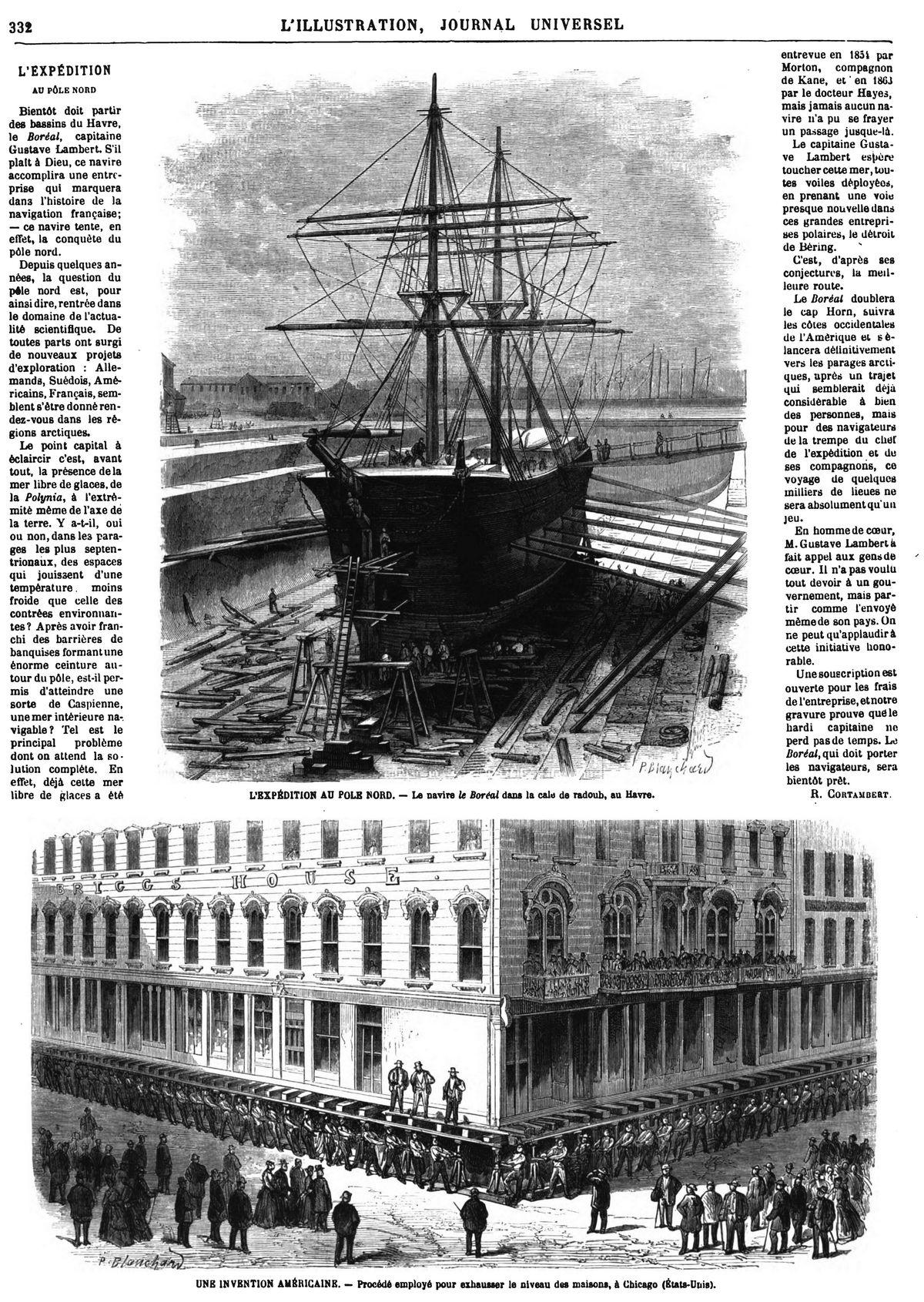 L'Expédition au pole Nord: Le navire le Boréal dans la cale de radoub, au Havre,
