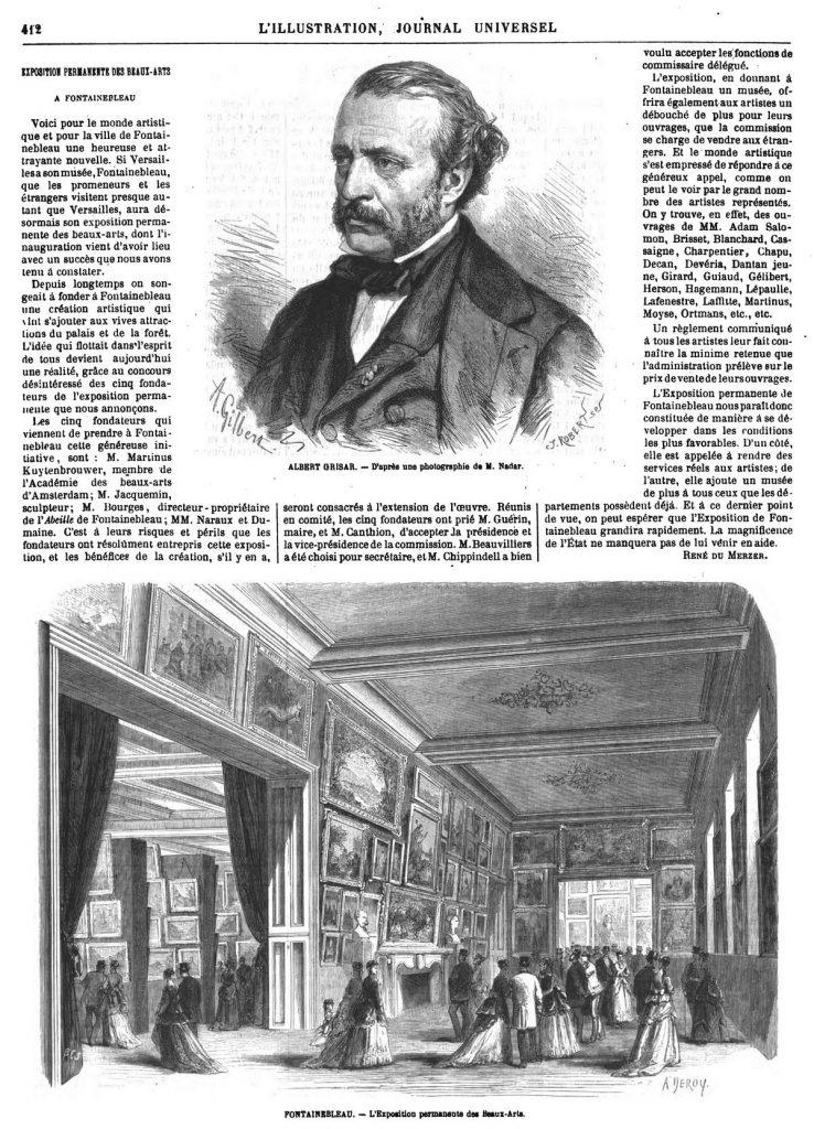 Portrait d'Albert firisar. Inauguration de l'Exposition permanente des beaux-Arts, à Fontainebleau.
