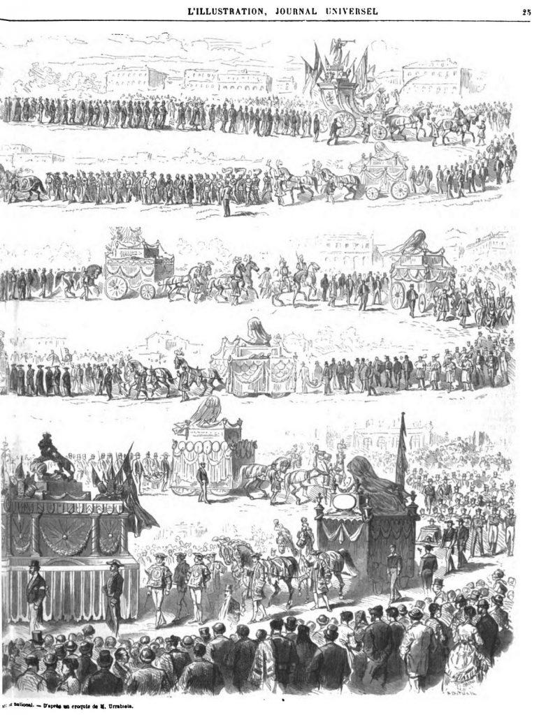 Madrid : Procession de l'inauguration du Panthéon national.