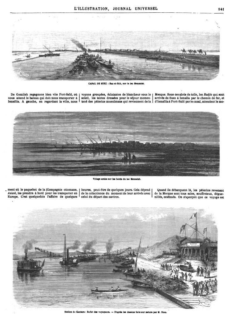 Le Canal de Suez 1869