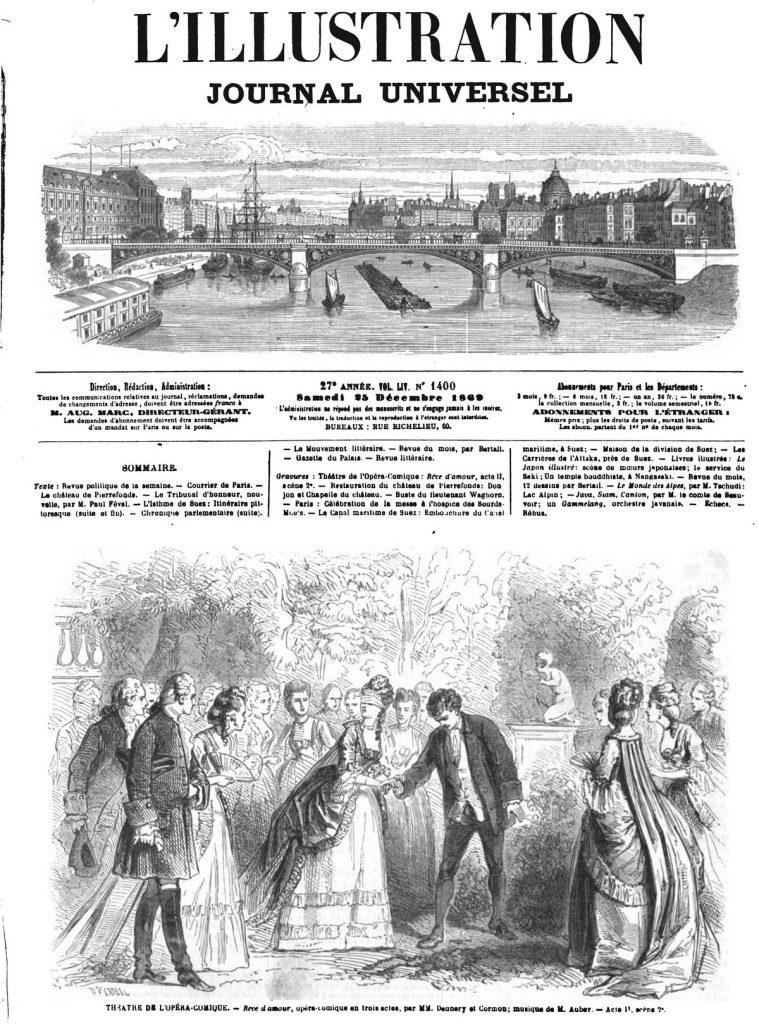 THEATRE DE L'OPÉRA-COMIQUE. - Rève d amour, opéra-comique en trois actes, par MM. Dunnery et Cormon; musique de M. Auber.1869