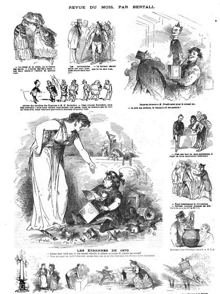 Revue du mois, 12 dessins par Bertall