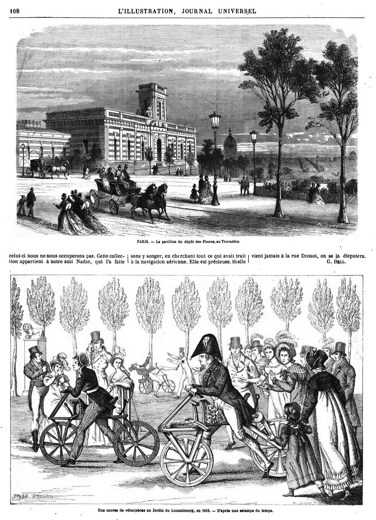 PARIS. — Le pavillon du dépôt des Phares, au Trocadéro.