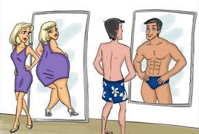 La différence entre l'homme et la femme. Les clichés homme vs femme.
