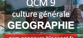 QCM n°9 géographie. Jeux pedagogique géographie